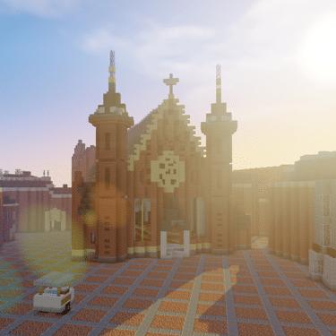Preview GeoCraft achtergrond Binnenhof - GeoFort